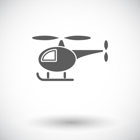 transposition: Helicopter icon. Flat vector related icon for web and mobile applications. It can be used as - logo, pictogram, icon, infographic element. Vector Illustration.