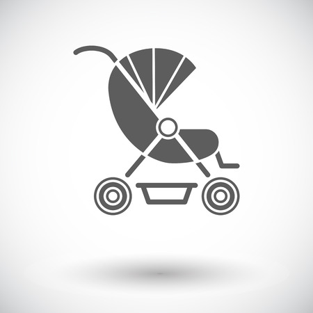 suckling: Pram icon. Flat vector related icon for web and mobile applications. It can be used as - pictogram, icon, infographic element. Vector Illustration.