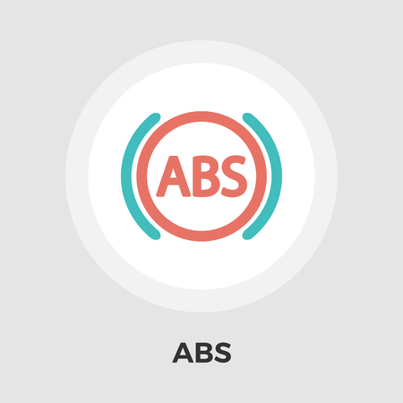 abs: ABS  icon vector. Flat icon isolated on the white background. Vector illustration.
