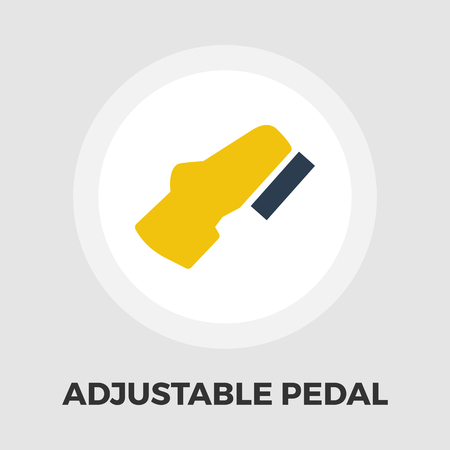 pedal: Adjustable pedal icon vector. Flat icon isolated on the white background. Vector illustration.