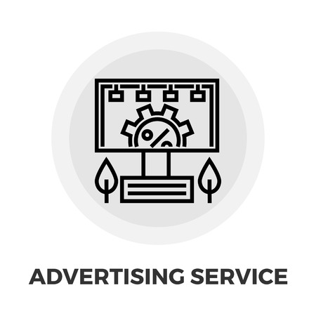 ad board: Adverting Service icon vector. Flat icon isolated on the white background.  Vector illustration. Illustration