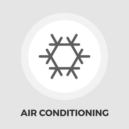ambiance: Air conditioning icon vector. Flat icon isolated on the white background. Vector illustration.