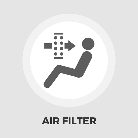 air filter: Air filter icon vector. Flat icon isolated on the white background. Vector illustration. Illustration