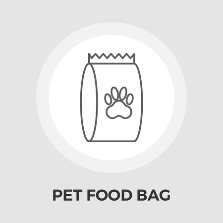 petshop: Pet food bag icon vector. Flat icon isolated on the white background. Vector illustration.