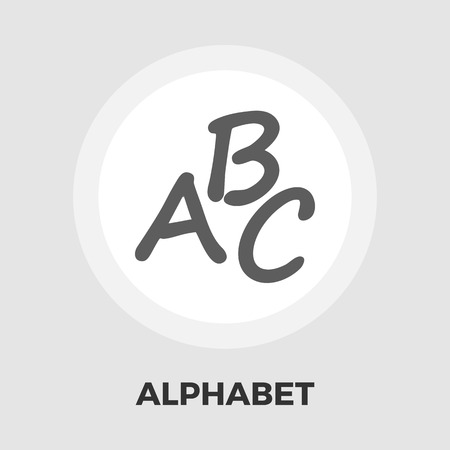 writing instruments: Alphabet icon vector. Flat icon isolated on the white background. Vector illustration. Illustration
