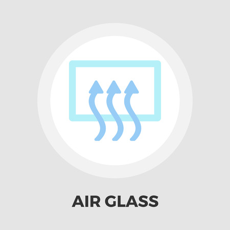 recirculate: Rear window defrost icon vector. Flat icon isolated on the white background.  Vector illustration.