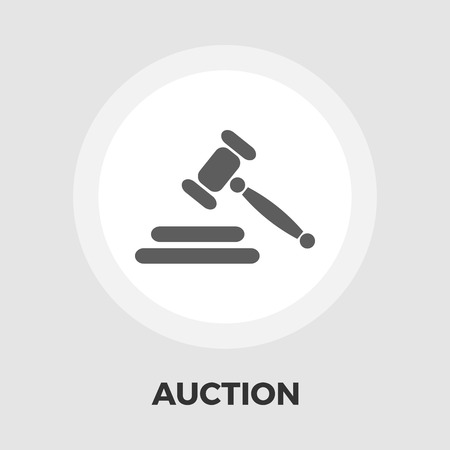 auction gavel: Auction gavel icon vector. Flat icon isolated on the white background. Editable EPS file. Vector illustration.