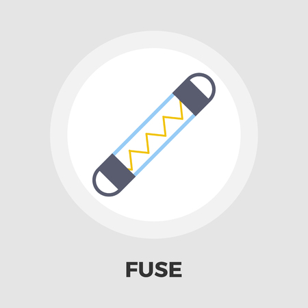 fuse: Automotive fuse icon vector. Flat icon isolated on the white background. Editable EPS file. Vector illustration.