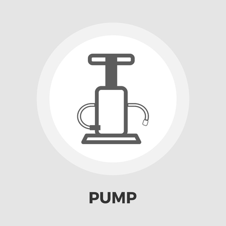 bicycle pump: Pump icon vector. Flat icon isolated on the white background. Editable file. Vector illustration.