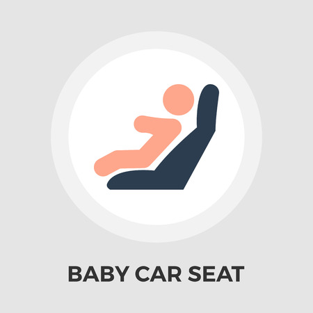 car seat: Child Car Seat Icon Vector. Flat icon isolated on the white background. Editable file. Vector illustration.