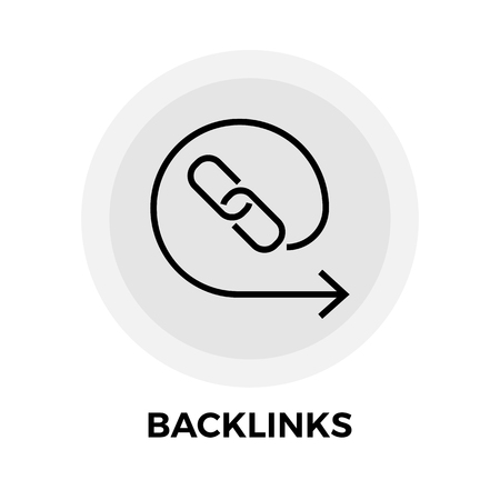 interlink: Backlinks Icon Vector. Flat icon isolated on the white background. Editable EPS file. Vector illustration.