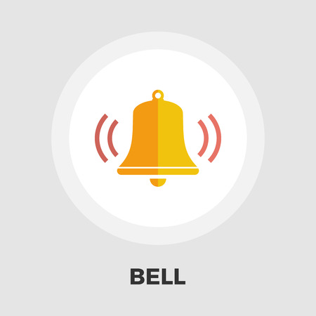 ring tones: Bell icon vector. Flat icon isolated on the white background. Editable file. Vector illustration.