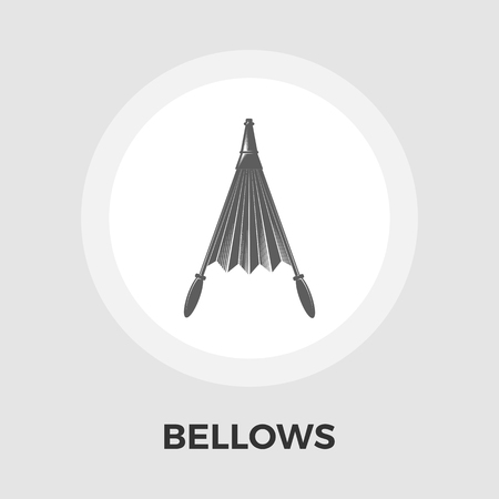 fireplace bellows: Belows icon vector. Flat icon isolated on the white background. Editable file. Vector illustration.