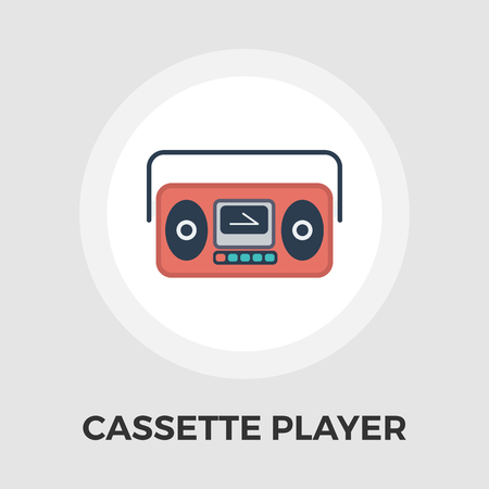 boom box: Boom box icon vector. Flat icon isolated on the white background.