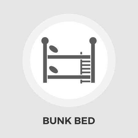 bunk bed: Bunk bed icon vector. Flat icon isolated on the white background. Illustration