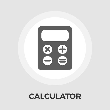 Calculator icon vector. Flat icon isolated on the white background.