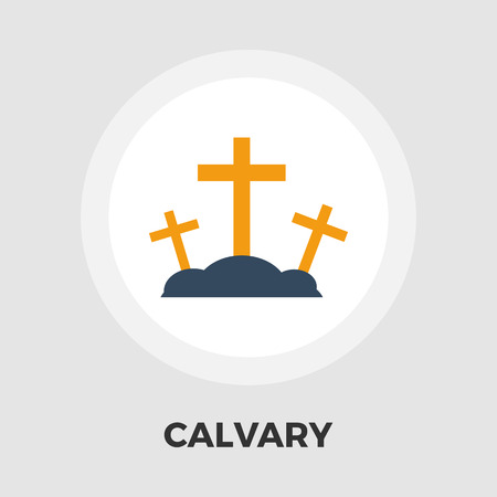 calvary: Calvary icon vector. Flat icon isolated on the white background. Illustration