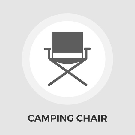 displaced: Camping chair icon vector. Flat icon isolated on the white background.