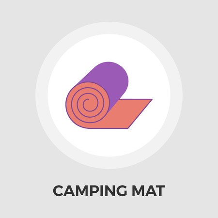 padded: Camping mat icon vector. Flat icon isolated on the white background.