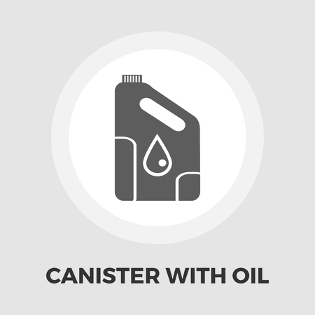 engine oil: Cans of engine oil icon vector. Flat icon isolated on the white background. Illustration