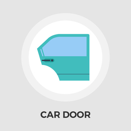 bodywork: Car door icon vector. Flat icon isolated on the white background.