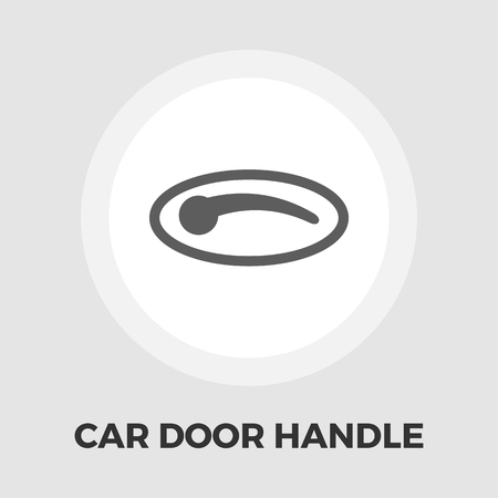 door handle: Car door handle icon vector. Flat icon isolated on the white background. Illustration