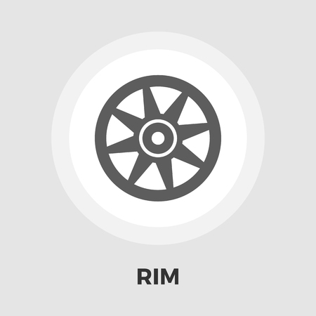 rim: Car rim icon vector. Flat icon isolated on the white background.