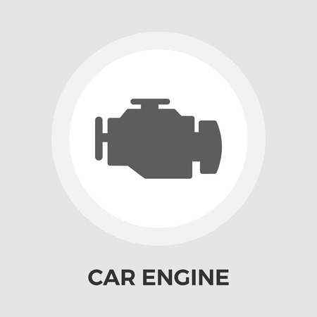 vehicle breakdown: Engine icon vector. Flat icon isolated on the white background.