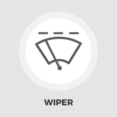 wiper: Wiper icon vector. Flat icon isolated on the white background.