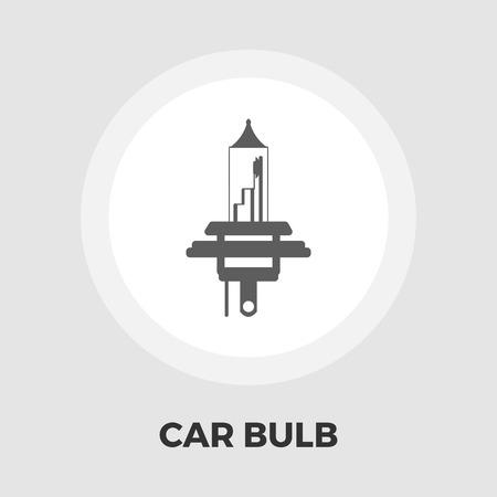 xenon: Xenon car lamp icon vector. Flat icon isolated on the white background.