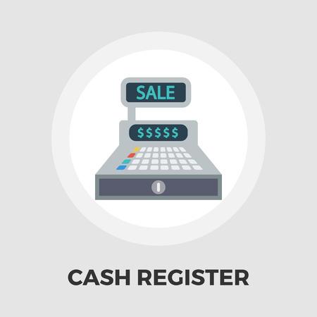 numpad: Cash register icon vector. Flat icon isolated on the white background. Illustration