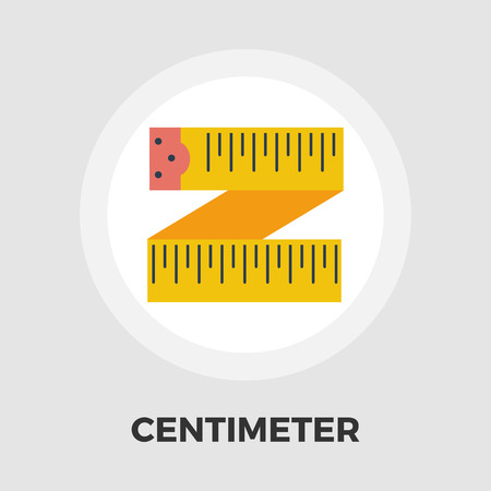 cintas metricas: Centimetr icon vector. Flat icon isolated on the white background.