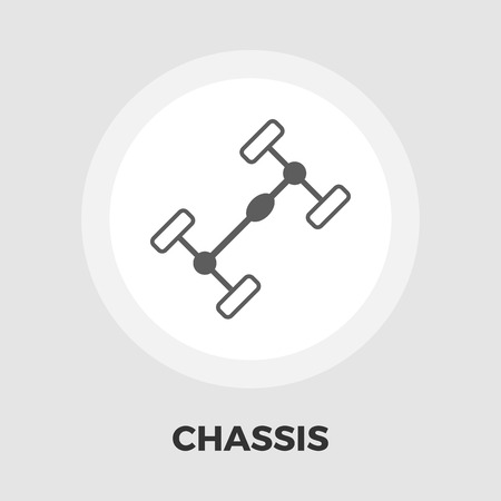 chassis: Chassis car icon vector. Flat icon isolated on the white background. Illustration
