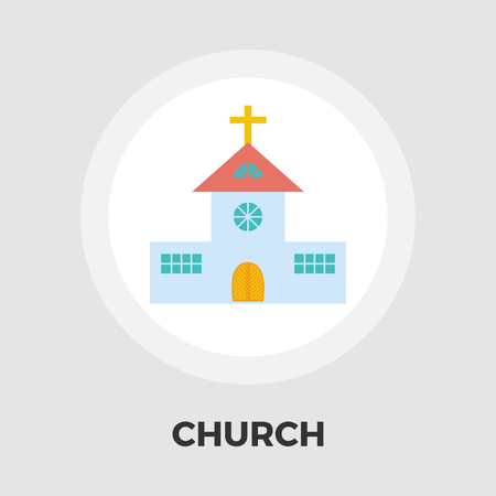 steeple: Church icon vector. Flat icon isolated on the white background. Editable EPS file. Vector illustration.