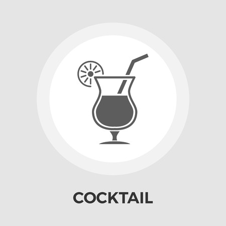 eps: Cocktail Icon Vector. Flat icon isolated on the white background. Editable EPS file. Vector illustration.