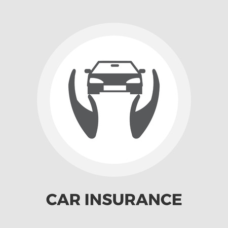 reimbursement: Concept car insurance icon vector. Flat icon isolated on the white background.