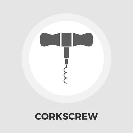 twist: Corkscrew icon vector. Flat icon isolated on the white background. Editable EPS file. Vector illustration.