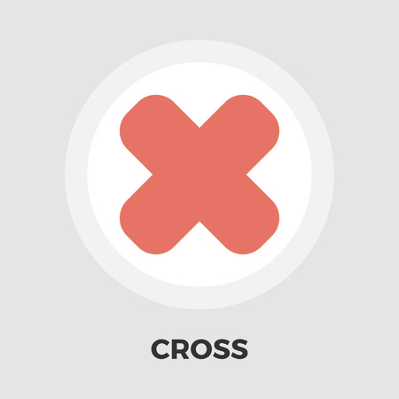 multiply: Cross icon vector. Flat icon isolated on the white background. Editable EPS file. Vector illustration.