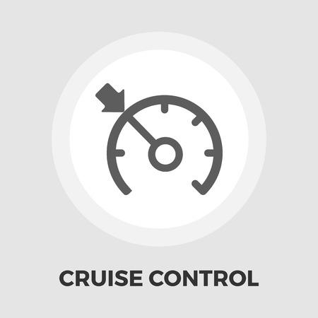 Régulateur de vitesse icône vecteur. icône plat isolé sur le fond blanc. fichier EPS éditable. Vector illustration. Vecteurs