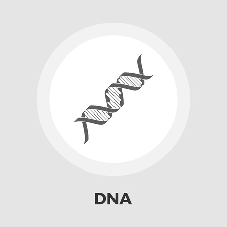 genetic modification: DNA icon vector. Flat icon isolated on the white background. Editable EPS file. Vector illustration.