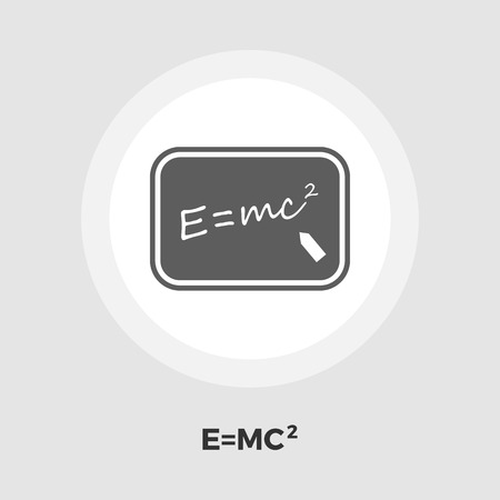 mc2: Physics icon vector. Flat icon isolated on the white background. Editable EPS file. Vector illustration.