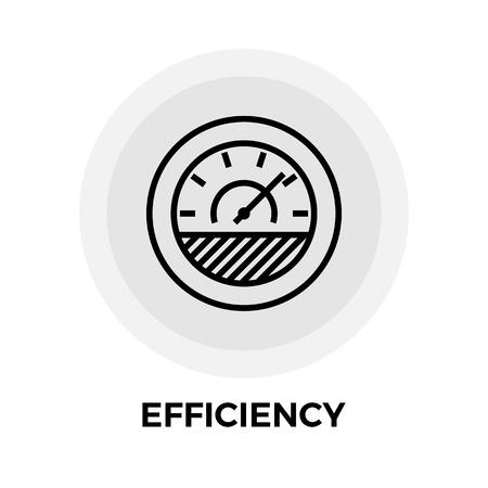 Effizienz-Symbol Vektor. Flach-Symbol auf dem weißen Hintergrund. Editierbare EPS-Datei. Vektor-Illustration.
