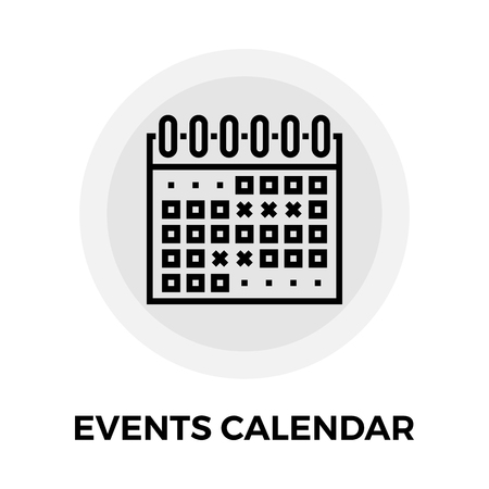 calender icon: Events Calendar icon vector. Flat icon isolated on the white background. Editable EPS file. Vector illustration.