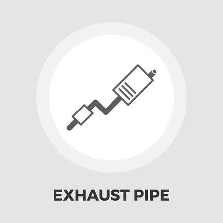 exhaust pipe: Exhaust pipe icon vector. Flat icon isolated on the white background. Editable EPS file. Vector illustration. Illustration