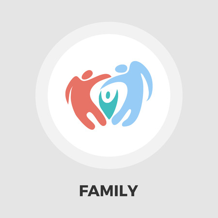 abstract family: Abstract family icon vector. Flat icon isolated on the white background. Editable EPS file. Vector illustration.