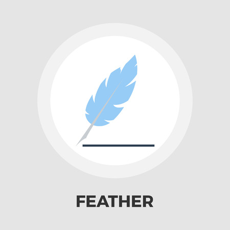 Feather icon vector. Flat icon isolated on the white background. Editable EPS file. Vector illustration. Illustration