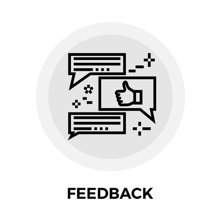 feedback icon: Feedback icon vector. Flat icon isolated on the white background. Editable EPS file. Vector illustration. Illustration