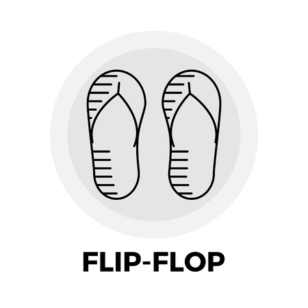flipflop: Flip-Flop icon vector. Flat icon isolated on the white background. Editable EPS file. Vector illustration. Illustration