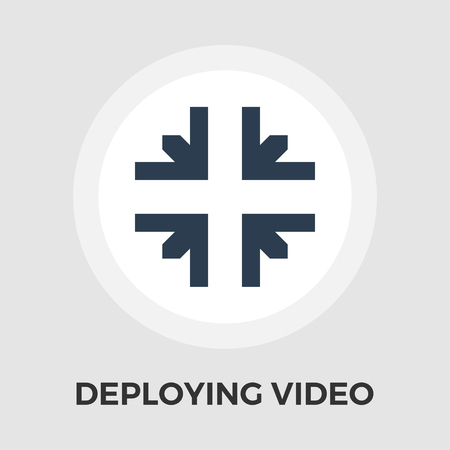 Deploying video icon vector. Flat icon isolated on the white background.