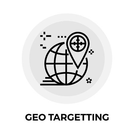 targetting: Geo Targetting icon vector